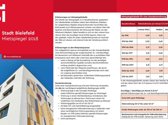 Mietspiegel Bielefeld 2018